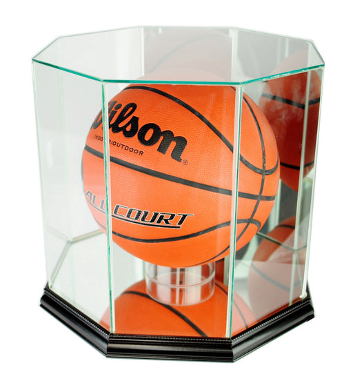 Octagon Full Size Basketball Display Case with Mirrors
