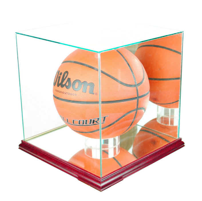 Retangle Full Size Basketball Display Case with Mirrors