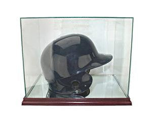 Retangle Batting Helmet Display Case with Mirrors