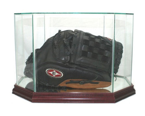 Octagon Baseball Glove Display Case with Mirrors