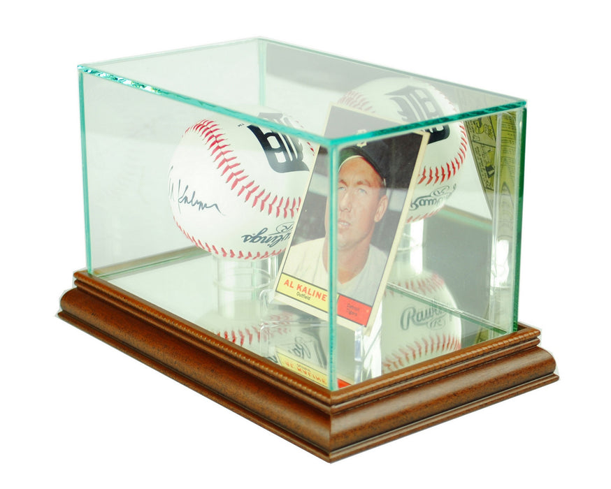 Card and Baseball Display Case with Mirrors