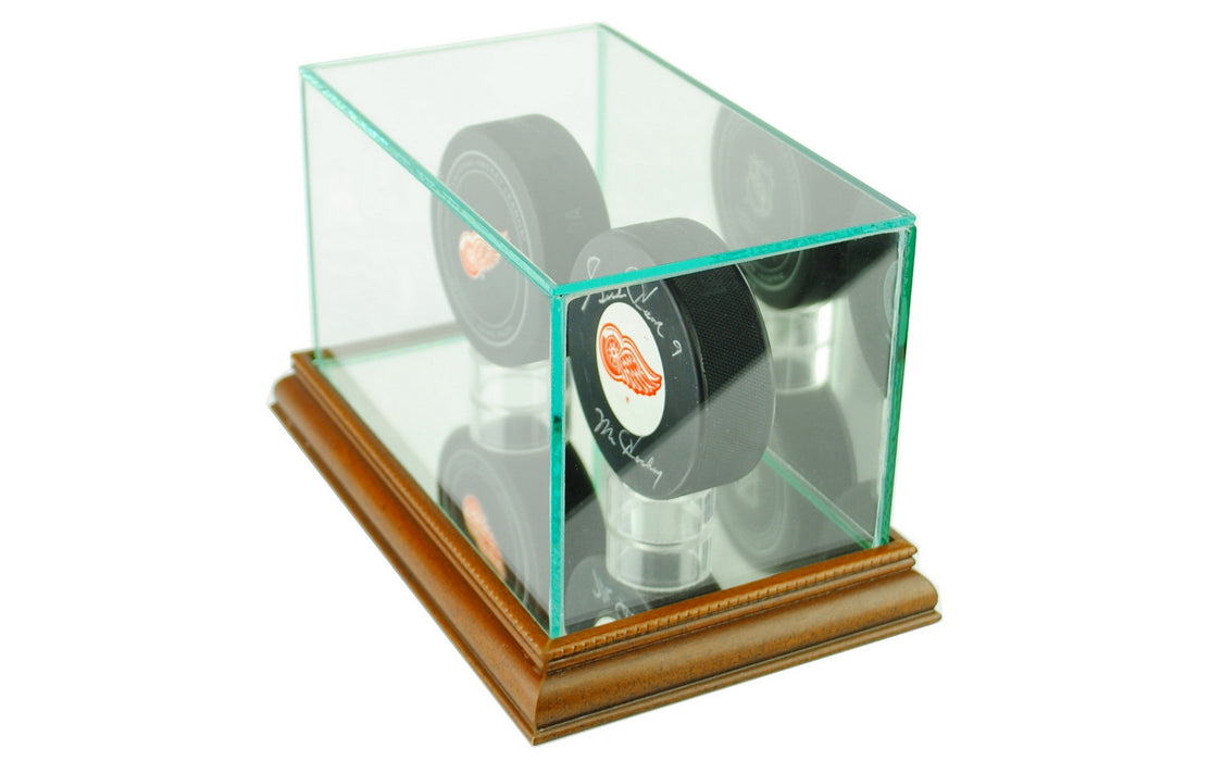 Double Puck Display Case with Mirrors