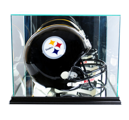 Retangle Full Size Helmet Display Case with Mirrors