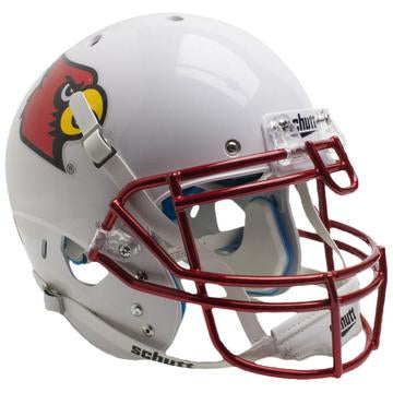 Louisville Cardinals Authentic Schutt XP Full Size Helmet - Chrome Mask