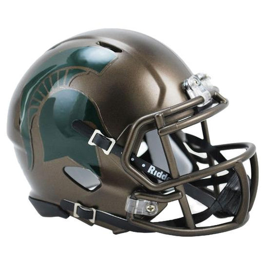 Michigan State Spartans Riddell Mini Speed Helmet - Bronze