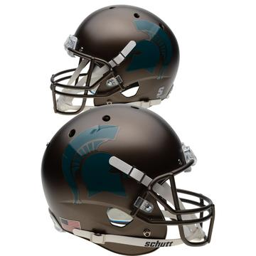 Michigan State Spartans Replica Schutt XP Full Size Helmet - Bronze
