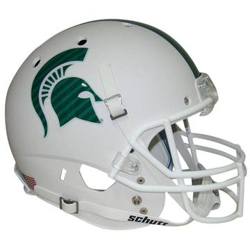 Michigan State Spartans Authentic Schutt XP Full Size Helmet - Matte White