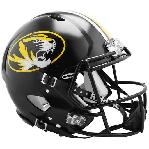 Missouri Tigers Authentic Full Size Speed Helmet - Anodized Black