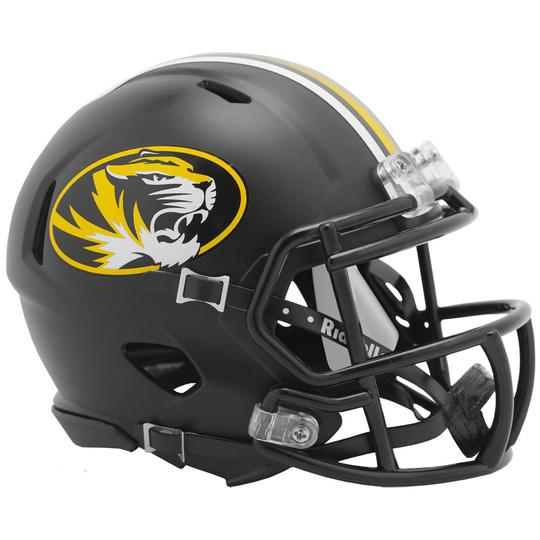 Missouri Tigers Riddell Mini Speed Helmet - Anodized Black