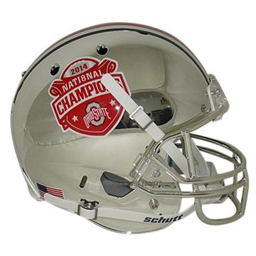 Ohio State Buckeyes Replica Chrome Schutt XP Full Size Helmet - 2014 National Champs