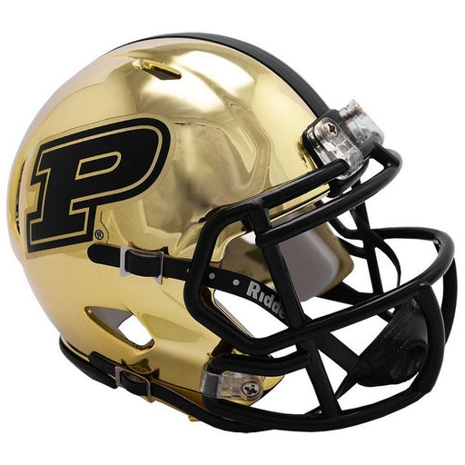 Purdue Boilermakers Riddell Mini Speed Helmet - 2018 Chrome