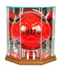 Octagon Soccer Ball Display Case with Mirrors