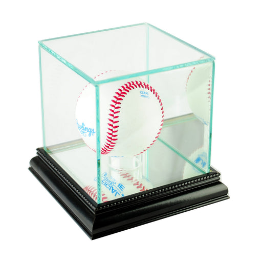 Single Baseball Display Case with Mirrors