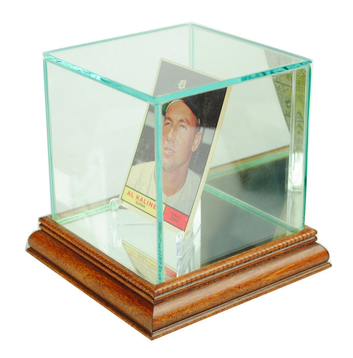 Single Card Display Case with Mirrors