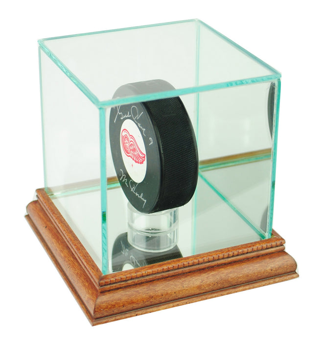 Single Puck Display Case with Mirrors