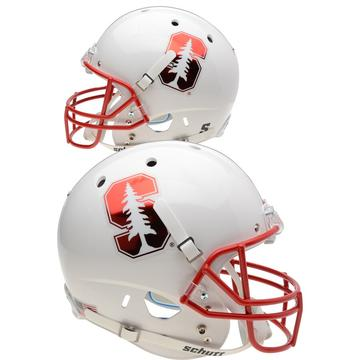 Stanford Cardinal Replica Schutt XP Full Size Helmet - Chrome Mask and Decal