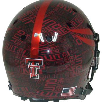 Texas Tech Red Raiders Authentic Schutt XP Full Size Helmet - Never Quit / Lone Survivor
