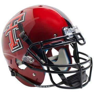 Texas Tech Red Raiders Authentic Schutt XP Full Size Helmet - Red Guns Up