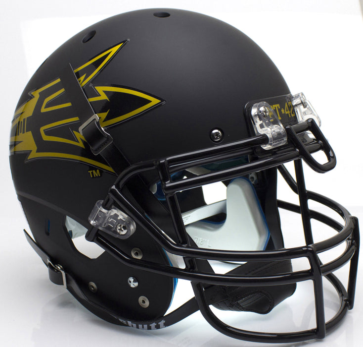 Arizona State Sun Devils Authentic Schutt XP Full Size Helmet - Matte Black PT 42