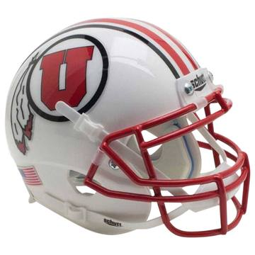Utah Utes Authentic Schutt XP Full Size Helmet - 2016 White