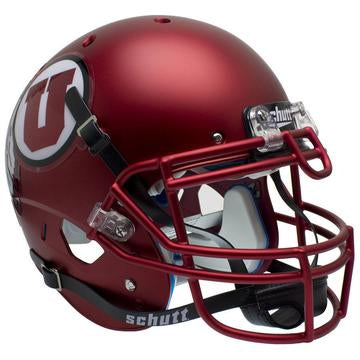 Utah Utes Authentic Schutt XP Full Size Helmet - Satin Red