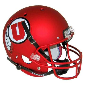 Utah Utes Replica Schutt XP Full Size Helmet - Satin Red