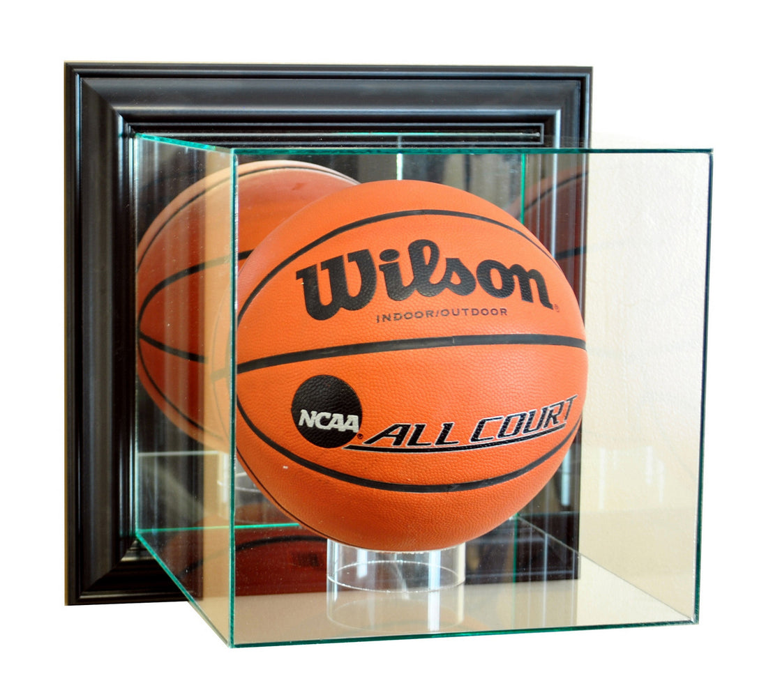 Wall Mounted Basketball Display Case with Mirrors