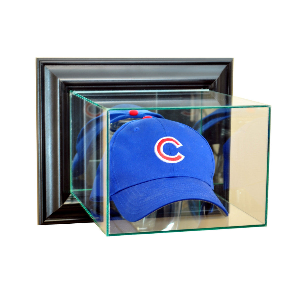Wall Mounted Hat Display Case with Mirrors