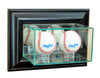 Wall Mounted Double Baseball Display Case with Mirrors