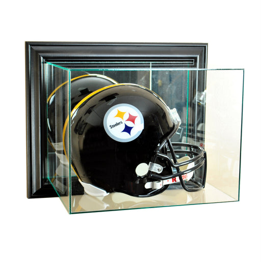 Wall Mounted Full Size Helmet Display Case with Mirror