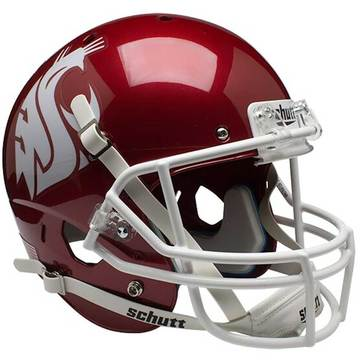 Washington State Cougars Authentic Schutt XP Full Size Helmet - Scarlet