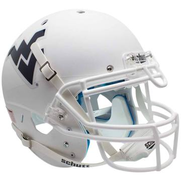 West Virginia Mountaineers Authentic Schutt XP Full Size Helmet - Matte White