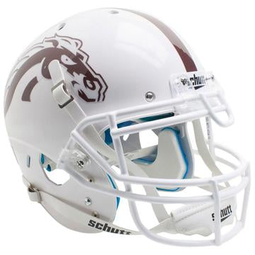 Western Michigan Broncos Authentic Schutt XP Full Size Helmet - White w/ White Mask