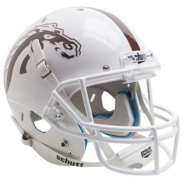 Western Michigan Broncos Replica Schutt XP Full Size Helmet - White with White Mask