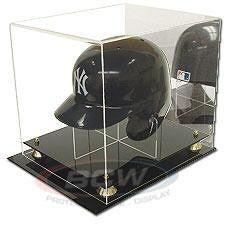 BCW Deluxe Acrylic Full Size Baseball Helmet Display with Mirror