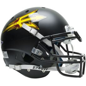 Arizona State Sun Devils Authentic Schutt XP Full Size Helmet - Matte Black