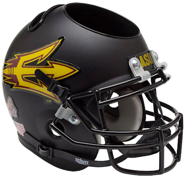 Arizona State Sun Devils Mini Helmet Desk Caddy - Matte Black