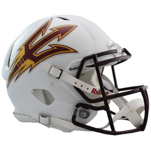 Arizona State Sun Devils Authentic Full Size Speed Helmet - White