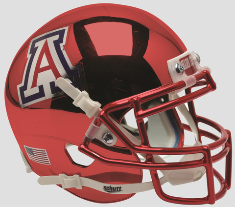 Arizona Wildcats Schutt XP Mini Helmet - Chrome