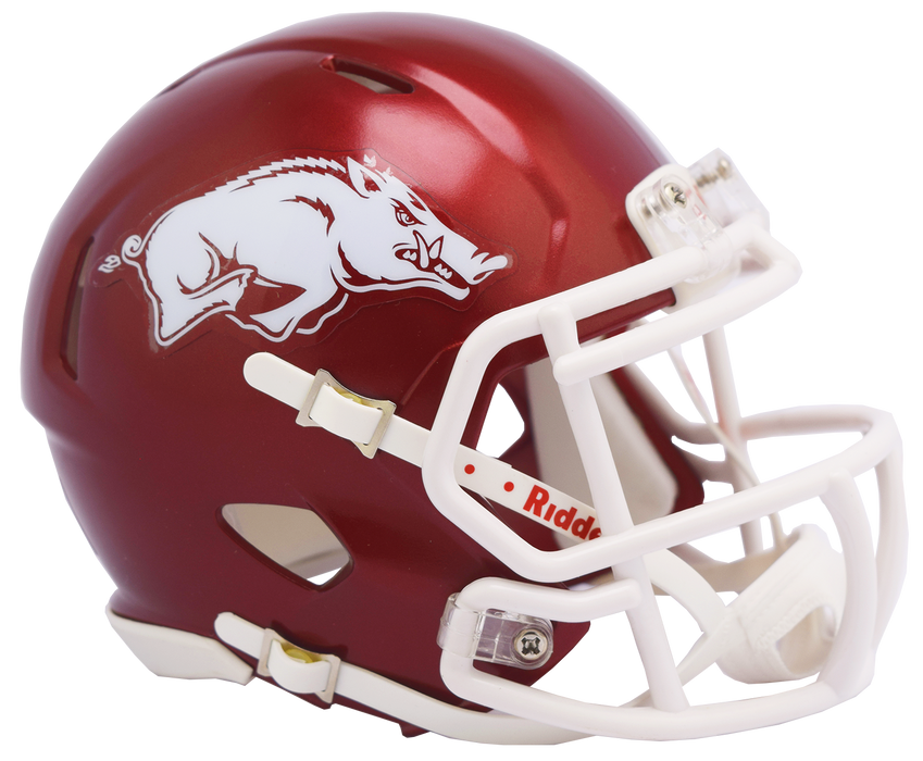 Arkansas Razorbacks Riddell Mini Speed Helmet - 2018 Gloss