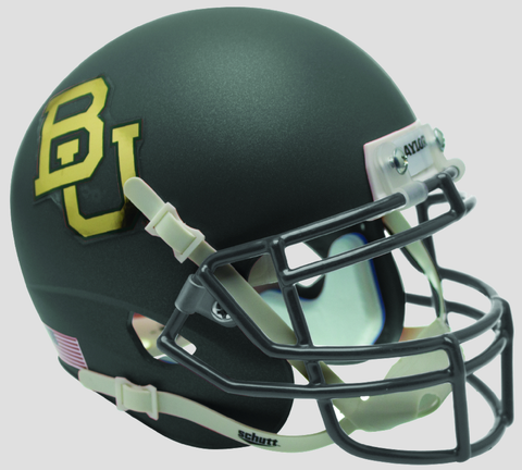 Baylor Bears Schutt XP Mini Helmet - Matte Anthracite Chrome Decal