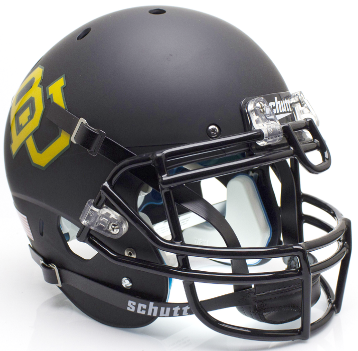 Baylor Bears Authentic Schutt XP Full Size Helmet - Matte Black