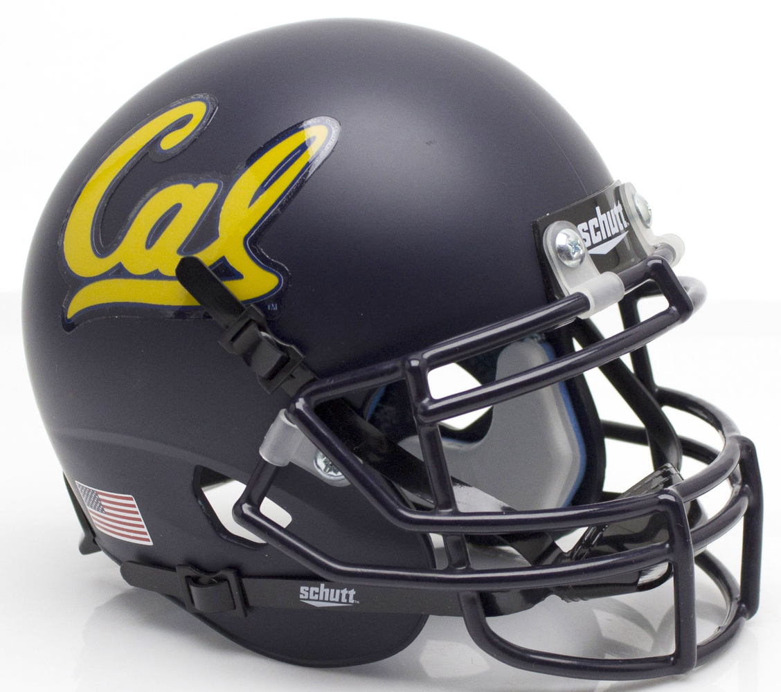 California Golden Bears Schutt XP Mini Helmet - Matte Navy