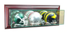 Wall Mounted Triple Mini Helmet Display Case with Mirrors