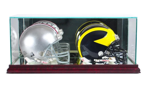 Double Mini Helmet Display Case with Mirrors