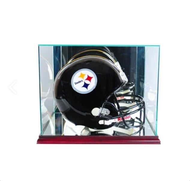 Rectangle Full Size Helmet Display Case with Mirrors