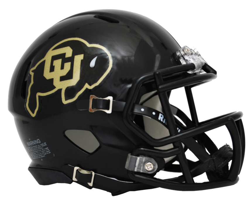 Colorado Buffaloes Riddell Mini Speed Helmet - Matte Black