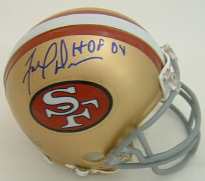 Fred Dean San Francisco 49ers Autographed Throwback Mini Helmet