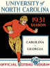 1931 North Carolina Tar Heels vs Georgia Bulldogs 22x30 Canvas Historic Football Poster