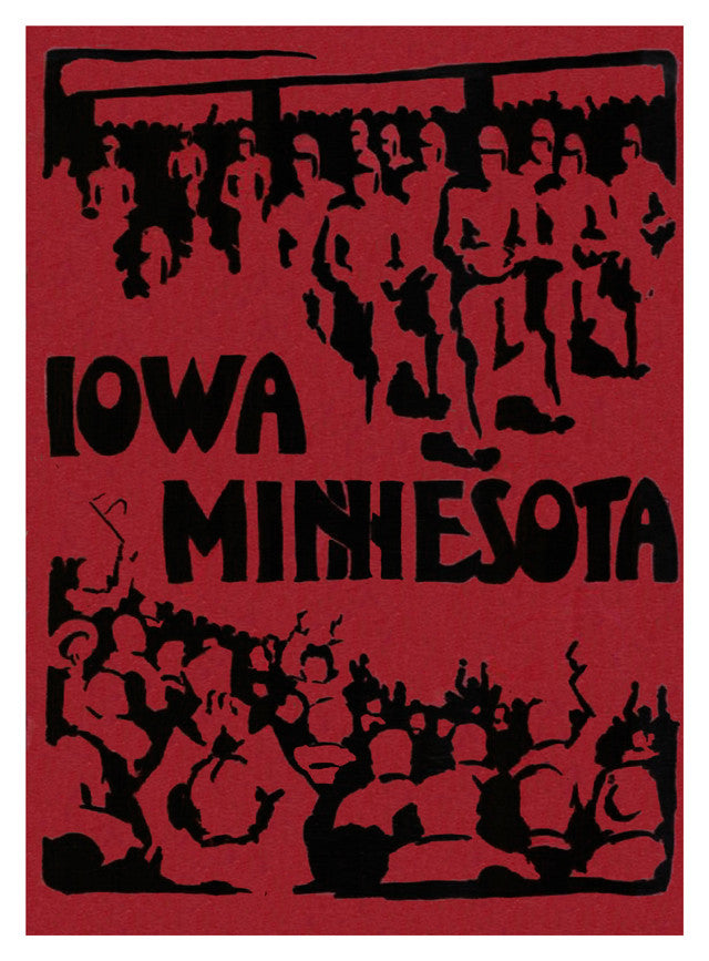 1928 Iowa Hawkeyes vs Minnesota Golden Gophers 22x30 Canvas Historic Football Poster